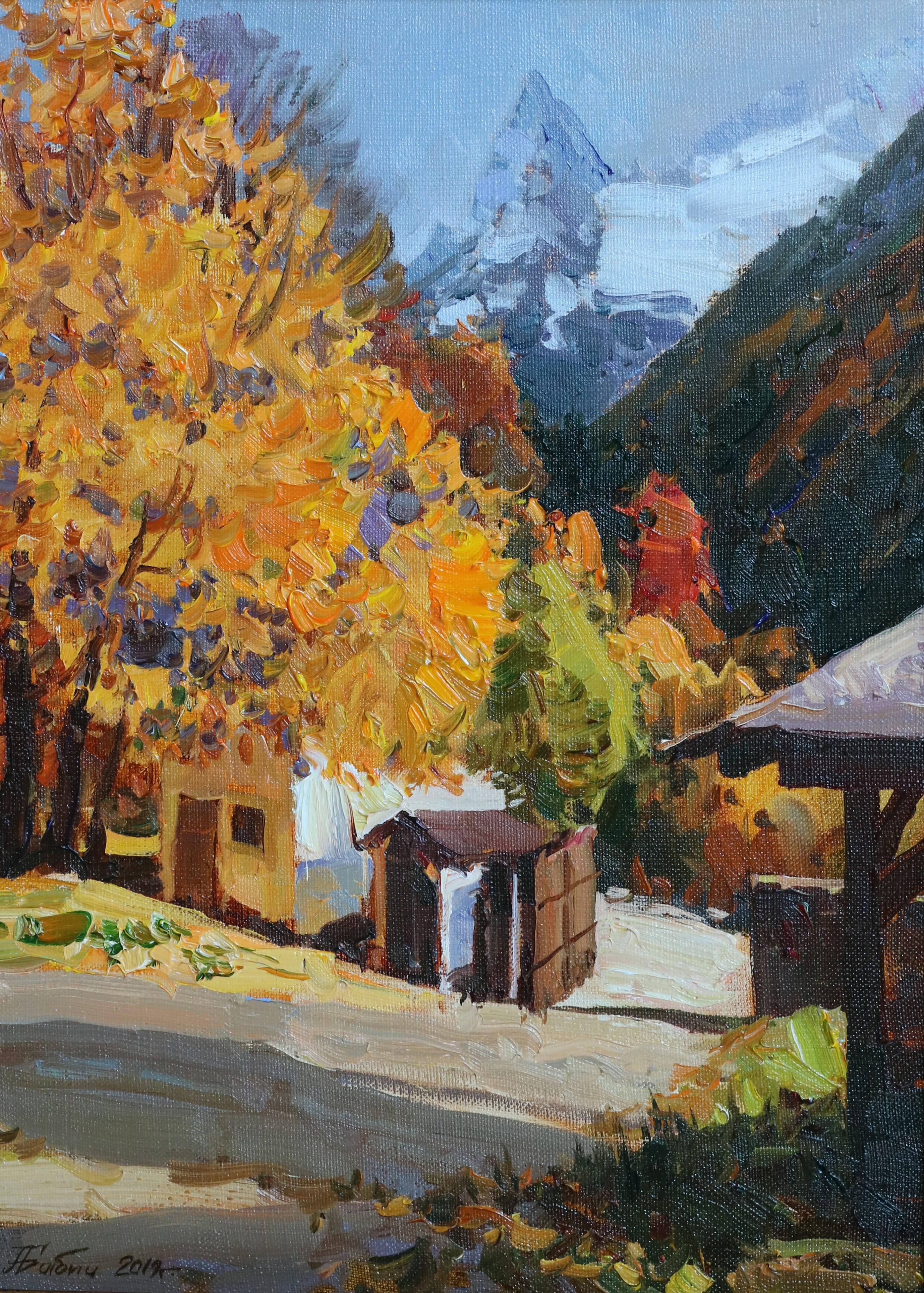 Осень в Домбае.40х30.