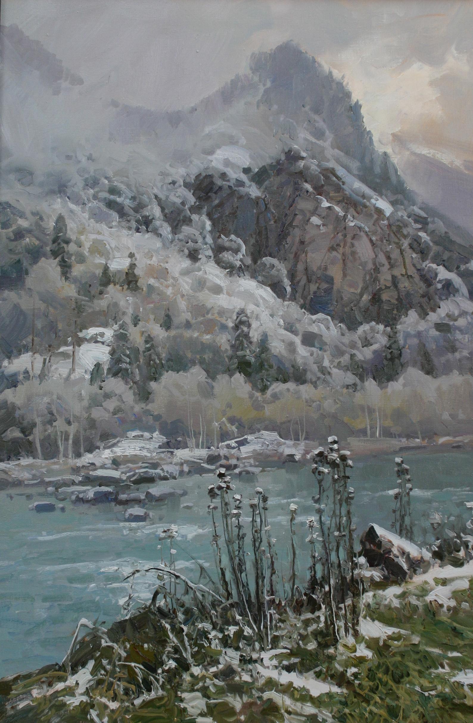 Первый снег в Теберде.90х60