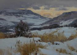 Зимние холмы Ставрополья 50х70.