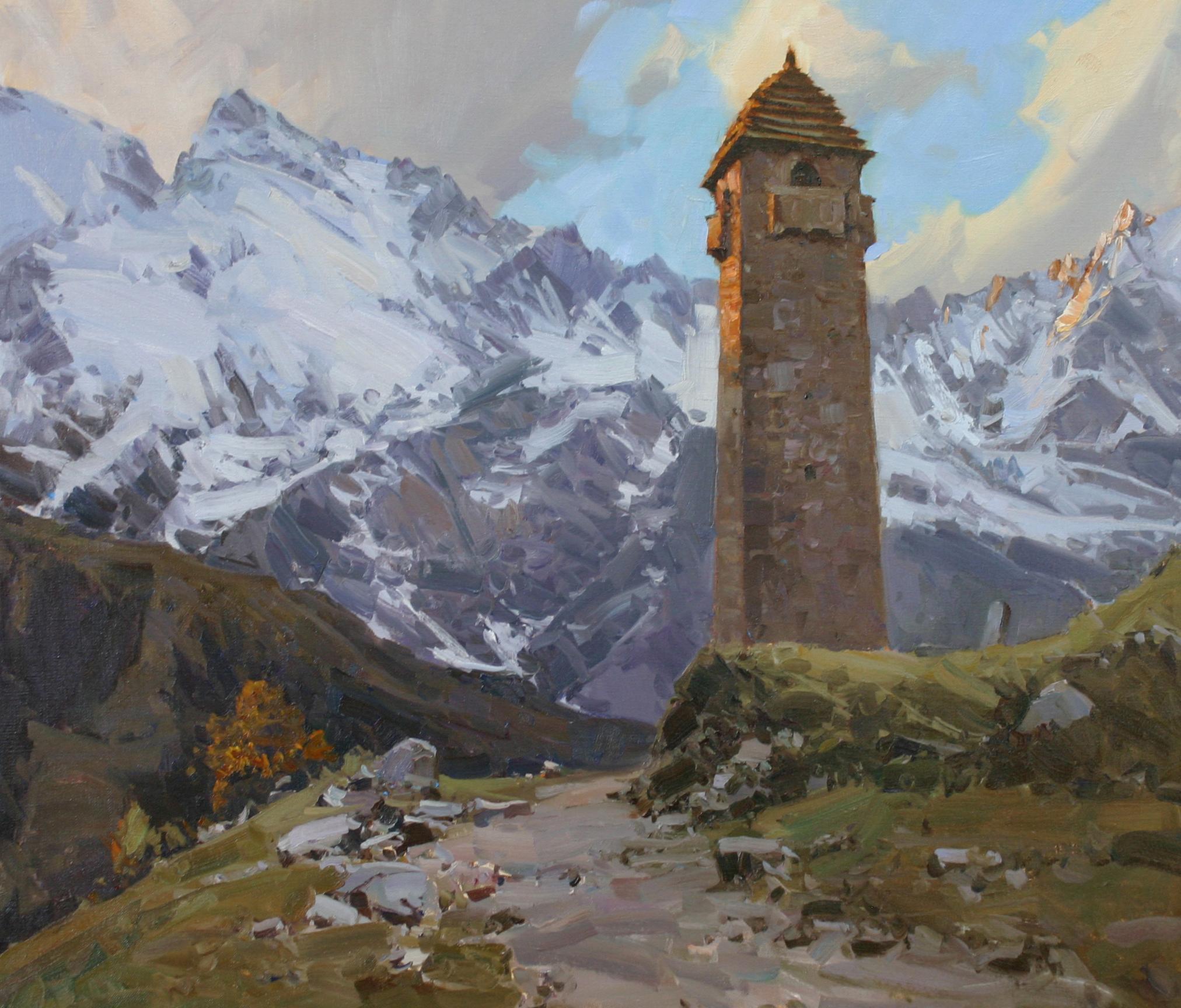 Сторожевая башня в Аргунском ущелье 70