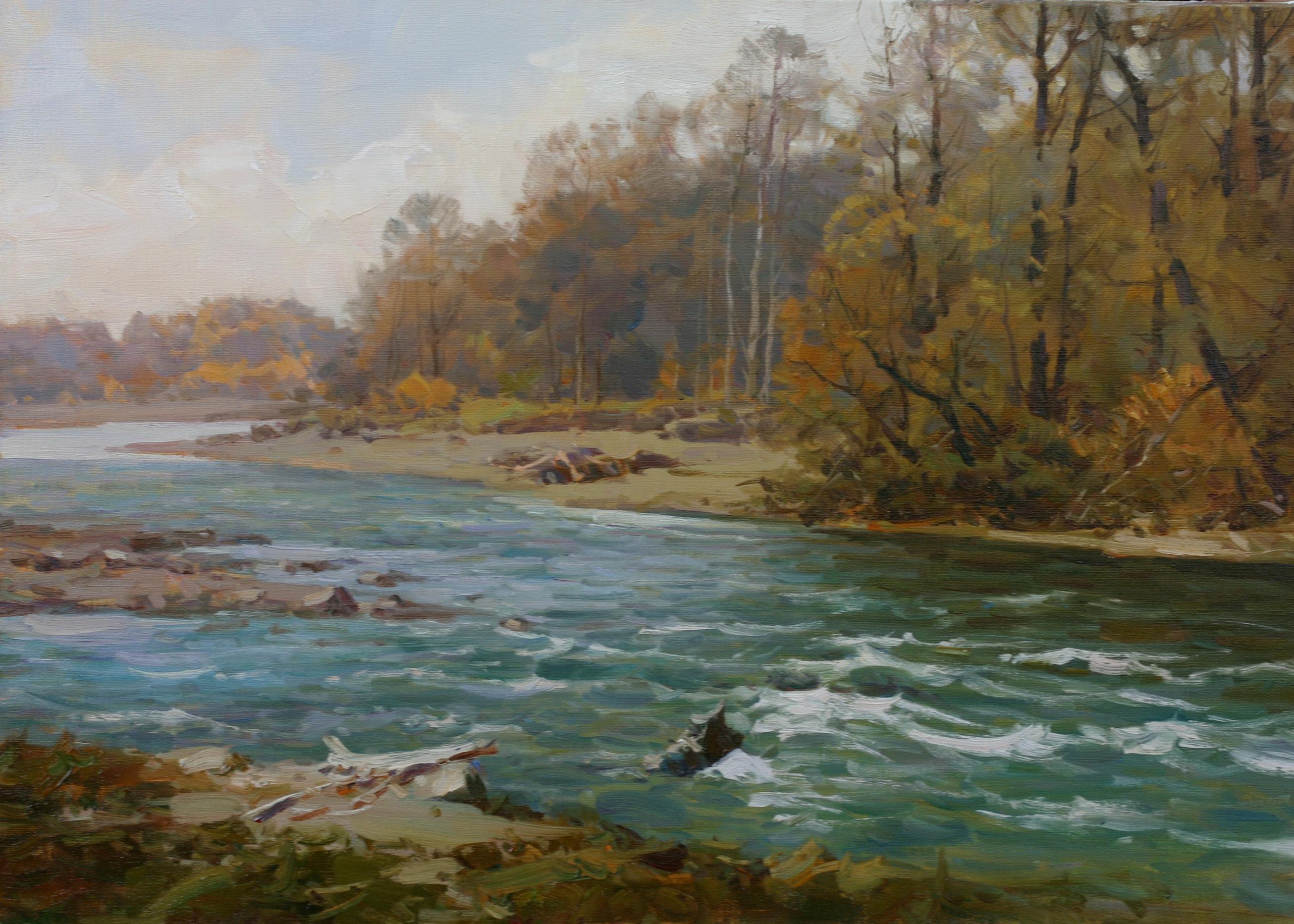 река Зеленчук 50х70 см