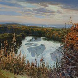 Осенняя река 60х60.