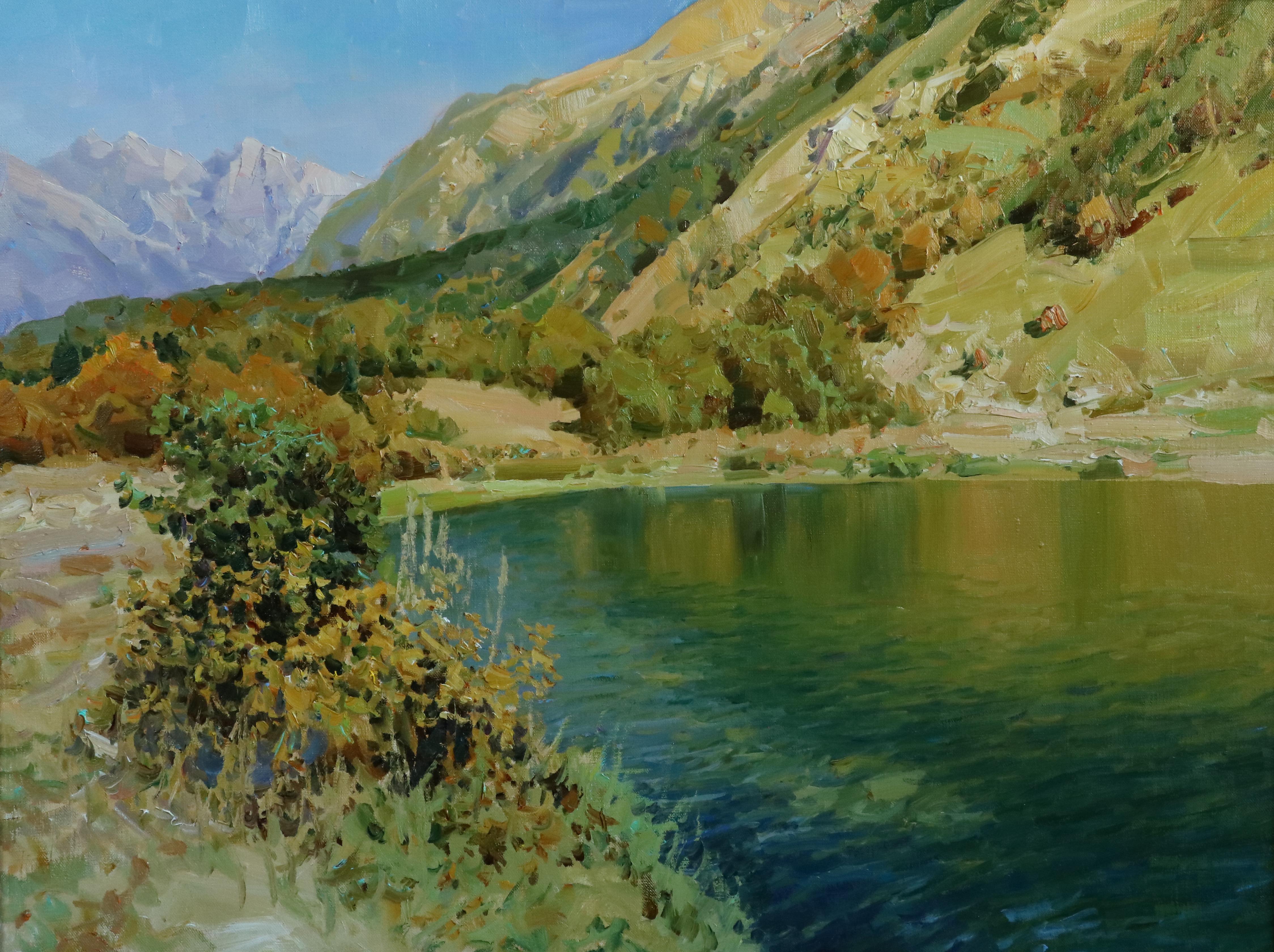 Утро на Форелевом озере.60х80.