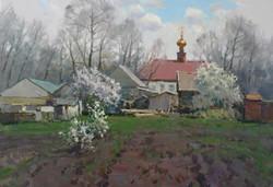 Деревенский пейзаж.50х70.