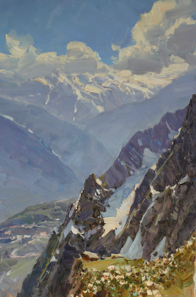 Rocky slopes on the Rose Peak