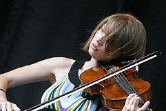Woman playing a viola