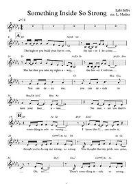 Something Inside Vocal Score Screenshot.