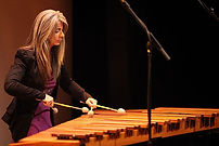 Woman playing Marimba
