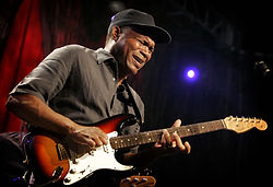Robert Cray playing guitar