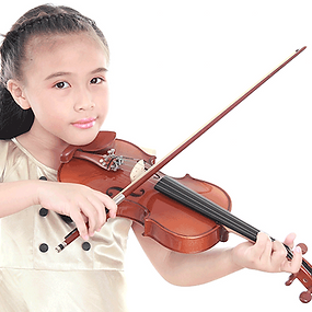Girl Playing Violin Barnsley Music Hub