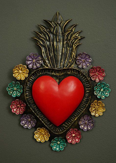 Corazón San Miguel CSMA14 30X22cm.