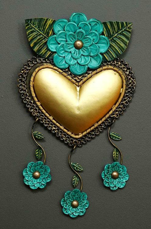 Corazón San Miguel CSMA22 41X23cm.