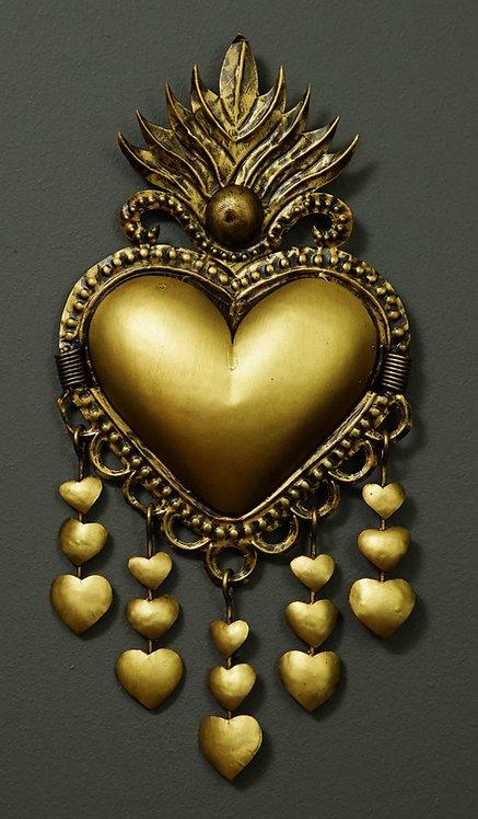 Corazón San Miguel CSMA16 37X18cm.