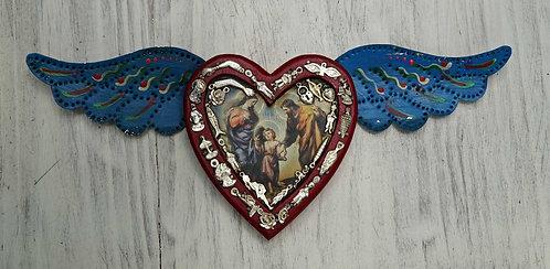 Corazón Milagrito Madera 37x15cm.