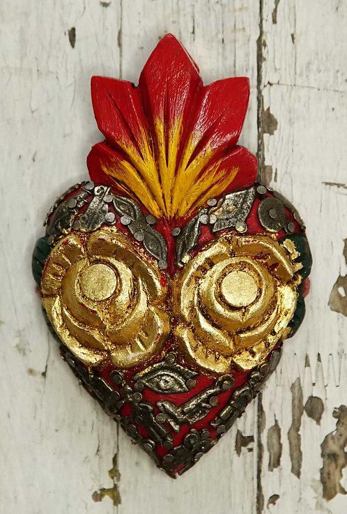 Corazón Milagrito Madera  13x9cm.