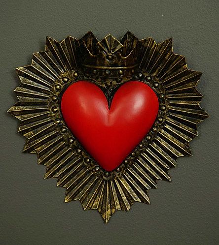 Corazón San Miguel CSMA15 26X25cm.