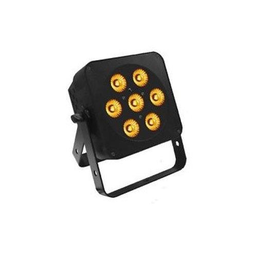 LEDJ Slimline 7Q5 Black 7 x 5W