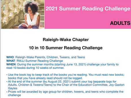 Raleigh-Wake Chapter 10 in 10 Summer Reading Challenge