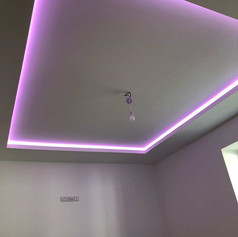LED 😇 Halo Ceilings-  Games room and Lo