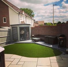 Garden landscaped - Astro turf, composit
