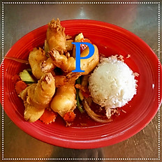 P. Crispy Shrimp with Curry