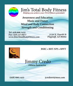 Jim's Total Body Fitness card