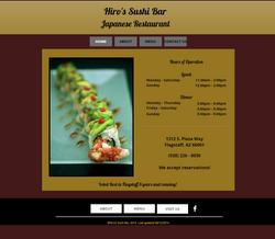 Hiro's Sushi Flagstaff webpage