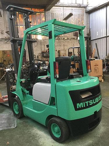 Benzine vorkheftruck Mitsubishi tweedehands te koop Belgie PODEVYN