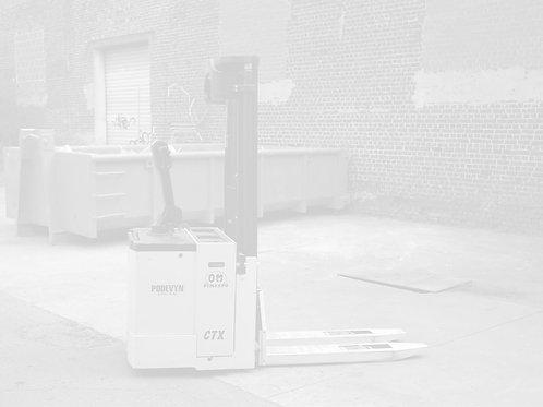 Gerbeur électrique, à plate-forme, d'occasion, OM CTX 15