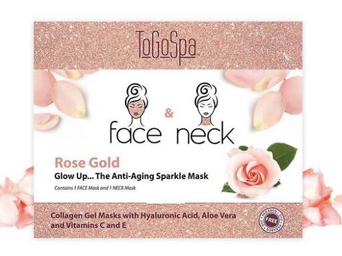 Rose Gold Glow Up Sparkle Mask