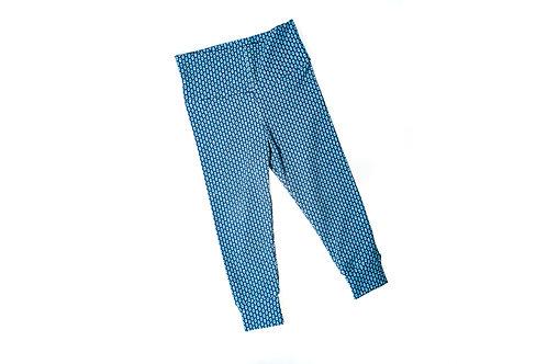 Leggingbroekje blauwe driehoekjes