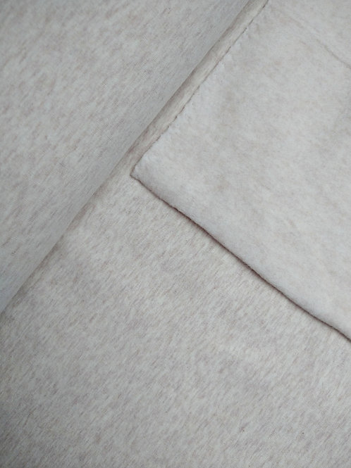 French terry brushed beige
