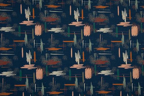 Sweater donkerblauw - kriskras