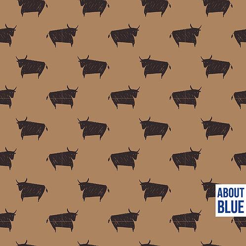 Wonders of life - BULL - About Blue Fabrics