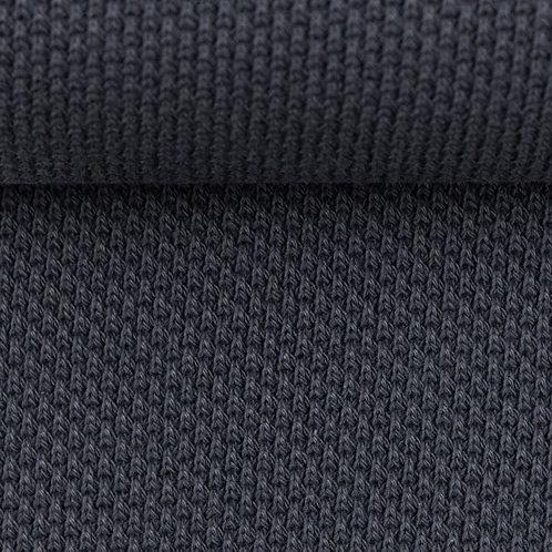 Gebreide stof - antraciet grijs