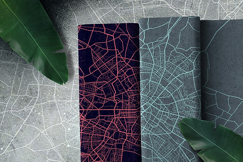 Urban network blue - paneel