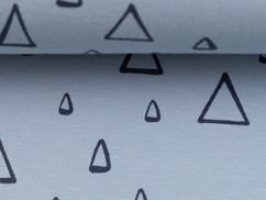 Lichtblauw driehoekjes