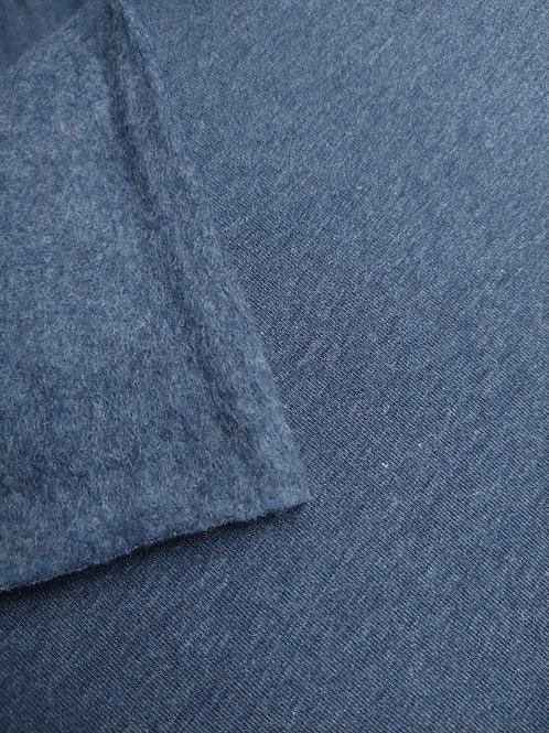 French terry brushed jeansblauw
