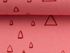 Koraalroze driehoekjes