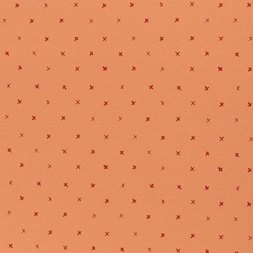Tricot oranje kruisjes