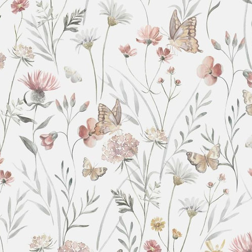 Flowers and butterflies - Family Fabrics