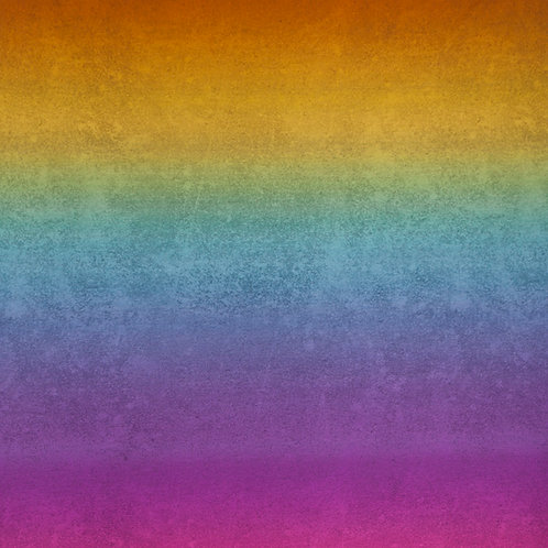 Rainbow gradient french terry