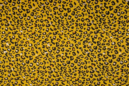 Tricot panter geel foil
