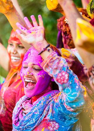 Women celebrating Holi