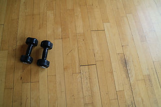 weights on floor.JPG