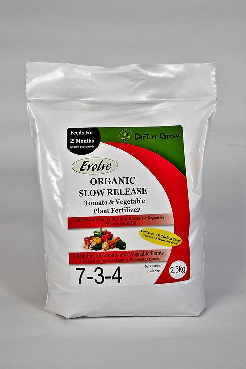 EVOLVE Organic Slow Release Tomato & Vegetable 7-3-4, 2.5KG