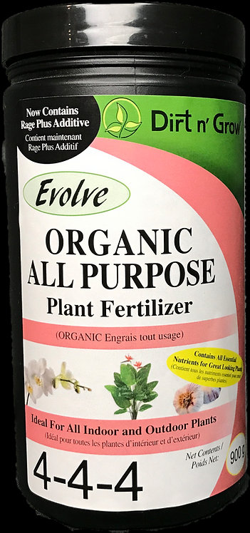 EVOLVE Organic All Purpose  4-4-4 900 GRAMS