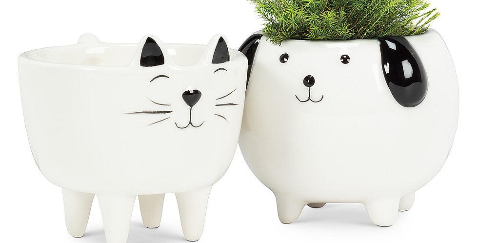 "Small Cat on Legs Planter-3.5""H"