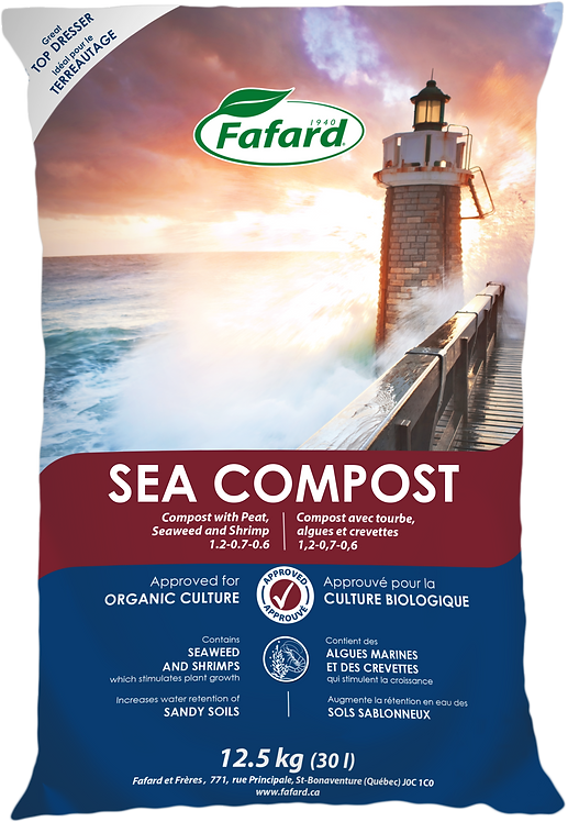 Sea Compost with Peat, Seaweed and Shrimp 30 L Bag