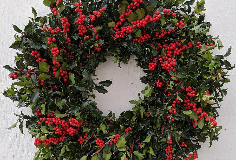 Natural Holly Wreath